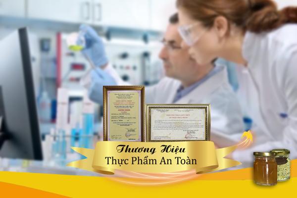 Yến sào Tiên Sa được công nhận là thương hiệu thực phẩm an toàn do Bộ Y tế cấp